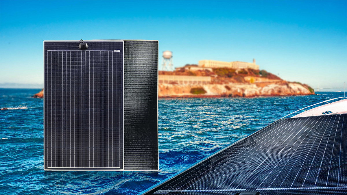 Sungold Launch A Semi-Flexible Solar Panel - LEE-Series for Marine Use