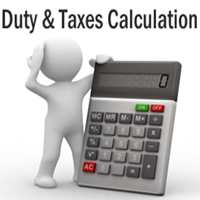 Import Duty & Taxes online Calculation